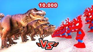 BÜCÜR SPIDERMAN VS 10.000 T-REX 😱 - Süper Kahramanlar