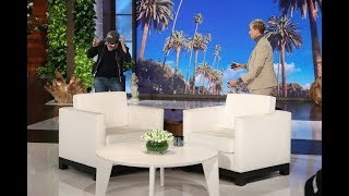 Ellen Gives Average Andy a 'Bird Box' Scare