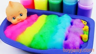 Learn Colors Baby Doll Body Paint Color Foam Bubble Bath Time Suprise Eggs Baby Finger Family Song