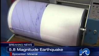 Science class' seismograph records Va. quake - 5:30 pm