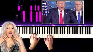 Cardi B ft. Donald Trump - China Piano Remix