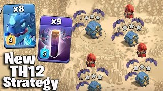 8 Electro Dragon + 9 New Bat Spell + New Stone Slammer :: NEW TH12 ATTACK STRATEGY 2018 (Aftre Nerf)