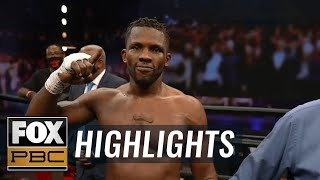 Efe Apochi KO's Deon Nicholson to win WBA Title Eliminator & stay unbeaten | HIGHLIGHTS | PBC ON FOX