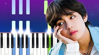 BTS V - Winter Bear  (Piano Tutorial)