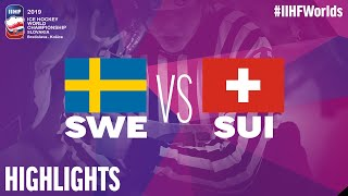 Sweden vs. Switzerland - Game Highlights - #IIHFWorlds 2019