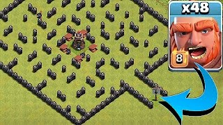 """THE MINI MAZE BASE""🔸GIANT TROLL EVENT!!🔸Clash Of Clans"