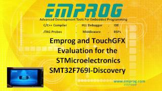 TouchGFX and Emprog evaluation for the STM32F469 discovery from