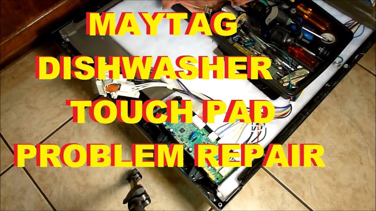 Maytag Dishwasher Touch Pad Problem Repair Fix Mdb7601