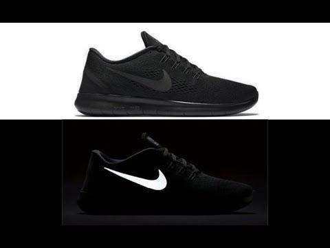 Nike Free RN Triple Black Reflective style # 831508  002