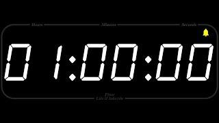 1 Hour - TIMER & ALARM - 1080p - COUNTDOWN