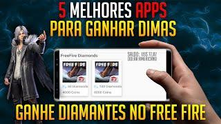 DIMAS FACIL !  5 APPS ATUALIZADOS PARA GANHAR DINHEIRO NO FREE FIRE E OUTROS JOGOS!