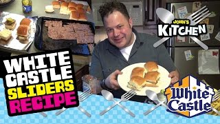 How to make White Castle Slider Burgers at home clone copycat recipe - John's Kitchen Episode #2