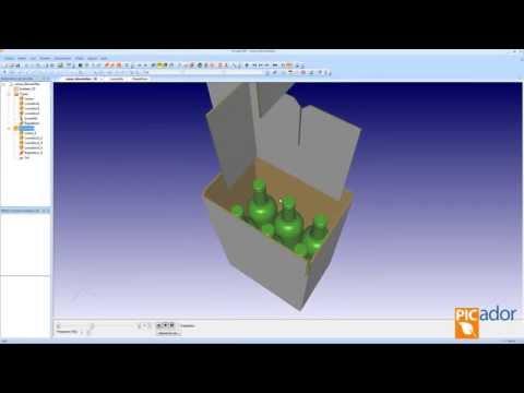 Picador CAD - Caja FEFCO y presentación en 3D (Sign-Tronic.es)