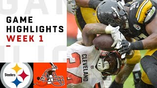 Steelers vs. Browns Week 1 Highlights | NFL 2018