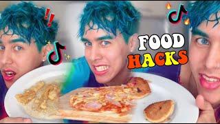PROBANDO RECETAS VÍRALES DE TIKTOK / Pizza sin horno *food hacks*