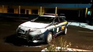 Diversos municípios registram a queda de gelo em rodovias, devido às temperaturas chegando a 0 grau