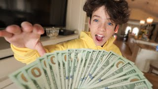Giving my Little Brother 2 Hours to Spend $10,000