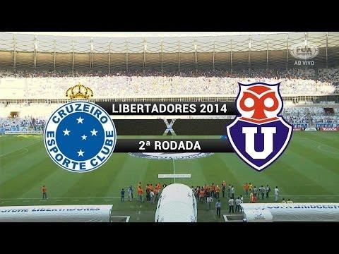 Baixar Gols - Cruzeiro 5 x 1 Universidad de Chile (CHI) - Libertadores 2014 - 25/02/2014