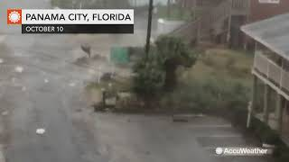 Ferocious Hurricane Michael winds rip off roofs, send debris flying