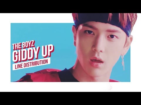 THE BOYZ - GIDDY UP Line Distribution (Color Coded) | 더보이즈