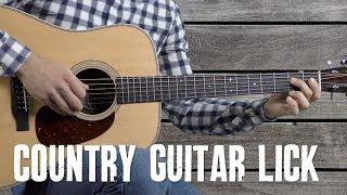 Country Guitar Lick in E - Country Lick Library - Guitar Lesson