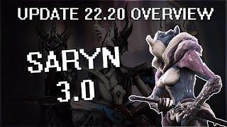 Warframe - Update 22.20 - Saryn 3.0 (Overview)