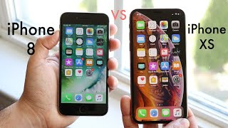 iPHONE XS Vs iPHONE 8! (Should You Upgrade?) (Review)