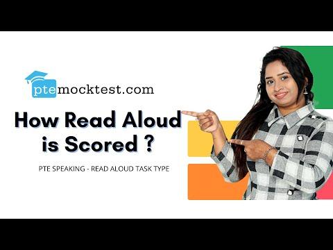 PTE Speaking: Read Aloud | How is it scored?