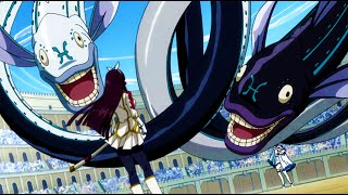 Fairy tail kagura vs yukino Full fight - episode 164