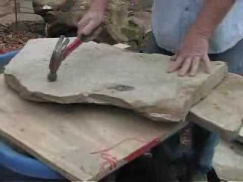 How To Cut Flagstone By Hand