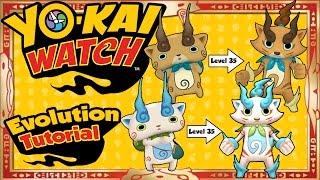 Yo-Kai Watch - Evolution Tutorial of ALL 15 Yo-Kai! [Tips & Tricks]