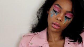 Festival Glitter Tears Makeup Look