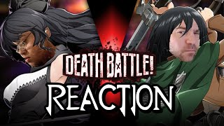 Blake VS Mikasa (RWBY VS Attack on Titan) | DEATH BATTLE! reaction