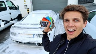 I'M WRAPPING MY AUDI R8 V10 PLUS!!