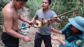 Nấu nướng theo kiểu thổ dân (quay thỏ giữa rừng) | Hoa Ban Tây Bắc