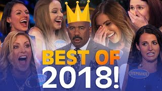 2018's GREATEST FAMILY FEUD MOMENTS!   Family Feud