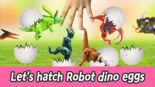 [EN] Let's hatch Robot dino eggs!! cocos animation, dinosaurs names for kids, collectaㅣCoCosToy