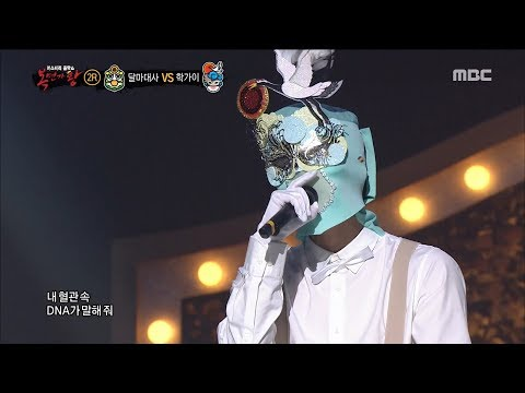 [King of masked singer] 복면가왕 - 'crane guy' 2round - DNA 20180225
