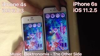 iPhone 4s iOS 6.1.3 vs iPhone 6s iOS 11.2.5 - Full Speedtest 2018