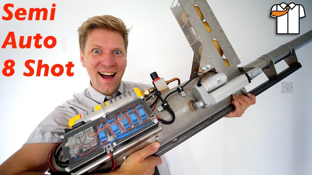 SEMI AUTO POTATO CANNON for the Homemade Screw Tank