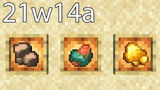 Rohes Erz, Eisen + Fortune & mehr! Snapshot 21w14a Minecraft 1.17 Update