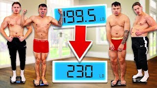 Who can GAIN the MOST WEIGHT in 24 Hours - Food Eating Challenge