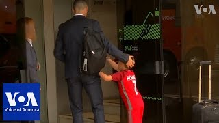 Ronaldo makes young fan's day as Portugal depart for World Cup