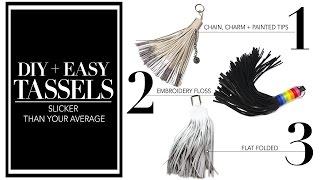 HOW TO MAKE TASSELS + 3 OPTIONS