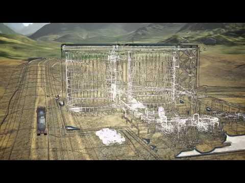 Video de Ausenco de sobrevuelo de la mina al puerto.