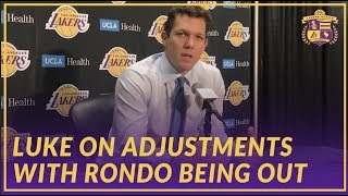 Lakers Interview: Luke Walton on LeBron's Historic Night, Adjustments With Rondo Being Injured