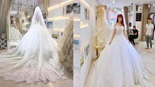 Khởi My xinh đẹp mặc đầm cưới đính kết 8.000 viên pha lê [Tin mới Người Nổi Tiếng]