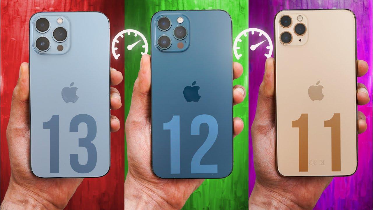 iPhone 13 Pro vs 12 Pro vs 11 Pro iOS 15 - Speed Test! (SHOCKING)