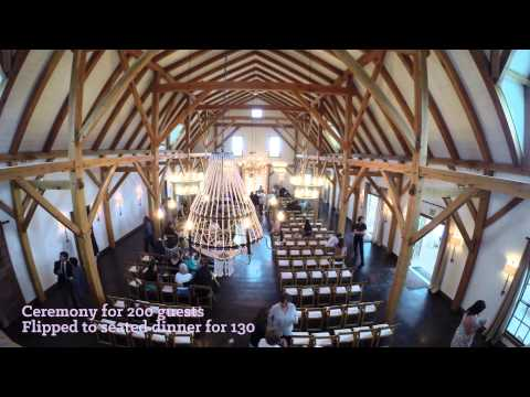 AnnaBelle Events Flips Wedding Ceremony & Reception in Barn
