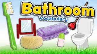 Bathroom in English - Vocabulary of bathroom stuff for kids and beginners